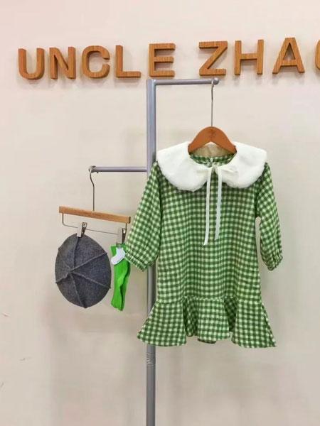 赵蜀黍童品童装品牌2020秋冬绿色元气百搭格子裙