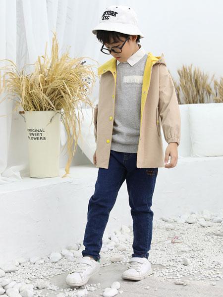 班吉鹿banjilu童装品牌2019秋冬纯色外套