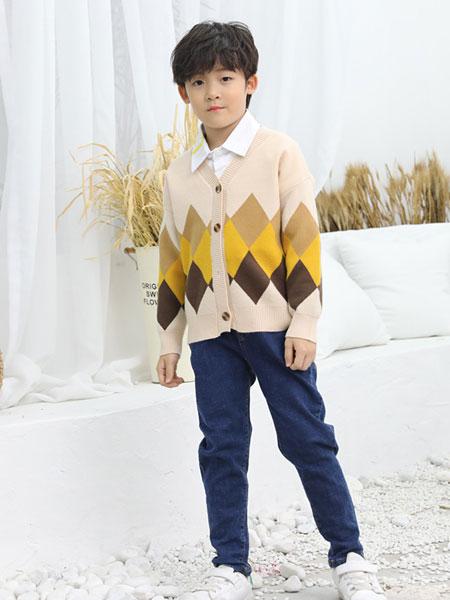 班吉鹿banjilu童装品牌2019秋冬个性撞色卫衣