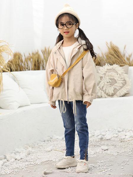 班吉鹿banjilu童装品牌2019秋冬个性纯色外套