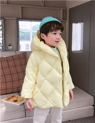 嘟拉嘟拉黄色时尚带帽外套