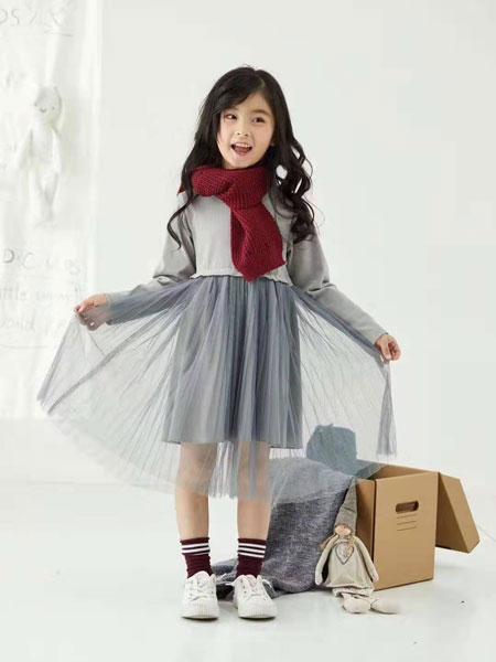 DC童装童装品牌2019秋冬保暖秋季透纱裙子