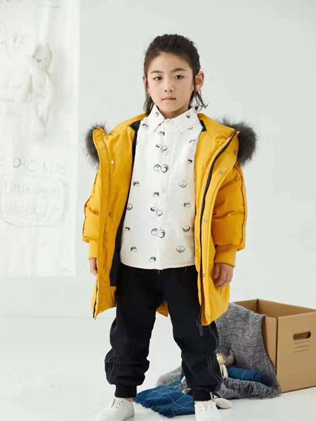 DC童装童装品牌2019秋冬带帽中长款羽绒纯棉公主韩版