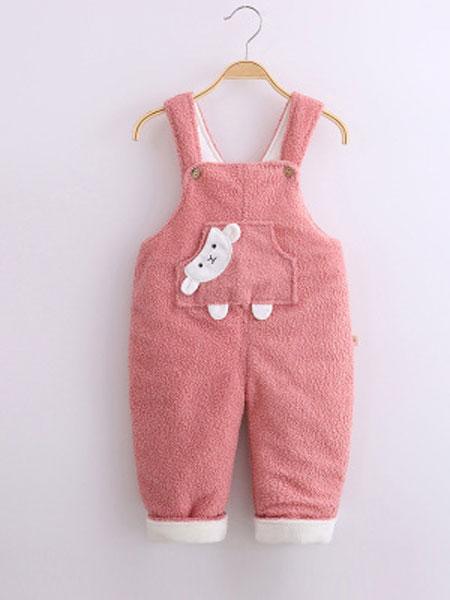 宝宝背带裤秋冬款薄棉A类 婴幼儿背带棉裤单件开裆0-2岁儿童衣服
