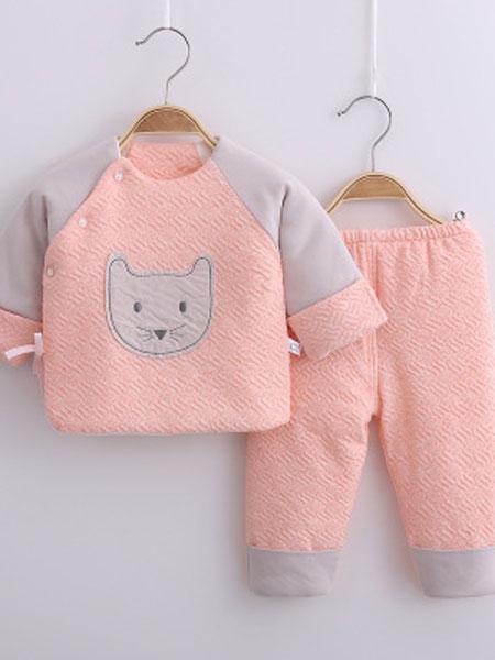 婴幼儿连体衣加厚哈衣天然彩棉秋冬爬服男女宝宝0-1岁新生儿衣服