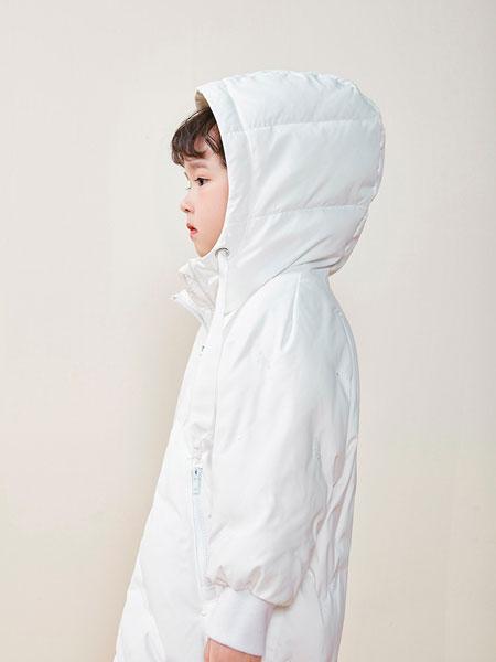 DIZAI童装品牌2019秋冬男款白色羽绒大衣