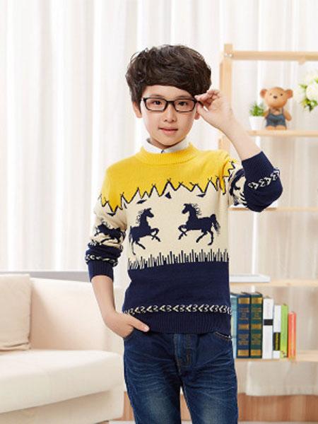 童装儿童毛衣秋冬男童中大童男孩上衣外套儿童针织衫加厚