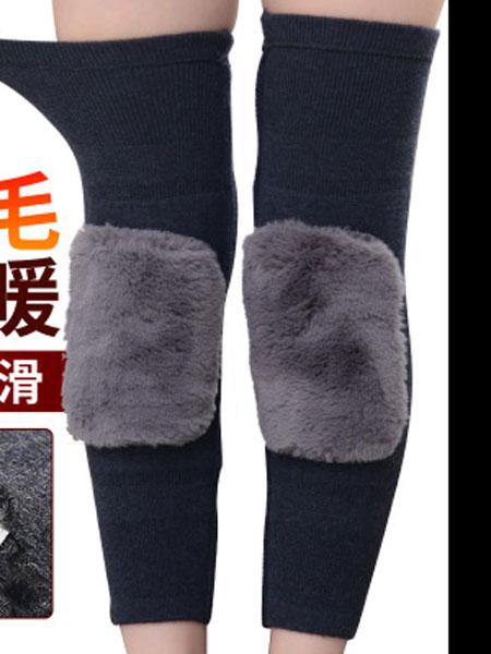 加厚羊绒护膝膝盖保暖护腿老寒腿男女加长羊毛护膝加绒防风发热