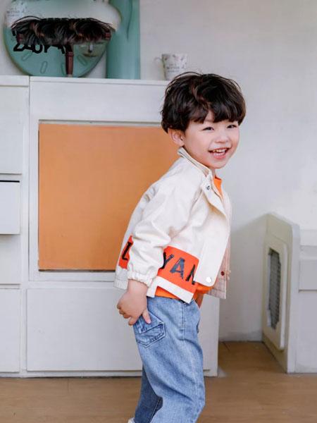 早言zaoyan 童装品牌2020春夏白色印字外套 清新百搭