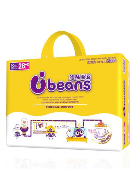 悠然豆豆婴童用品全芯体柔薄金呵护婴儿纸尿裤S码