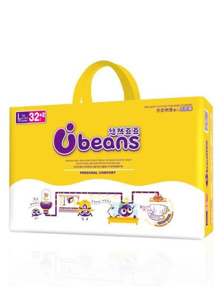 悠然豆豆婴童用品半芯体亲柔棉薄婴儿纸尿裤L码