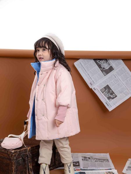 KIKI小鬼当家童装品牌2019秋冬女童纯色短款羽绒服