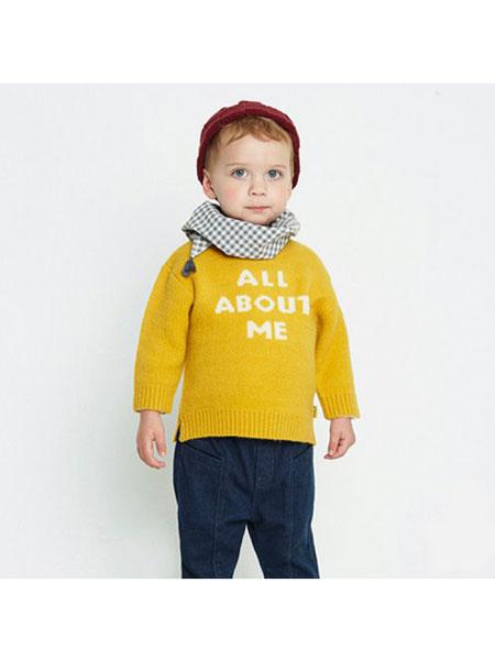 ALFONSO童装品牌2019秋冬纯色印字卫衣