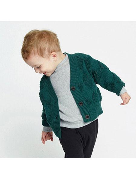 ALFONSO童装品牌2019秋冬毛织长袖衬衫外套