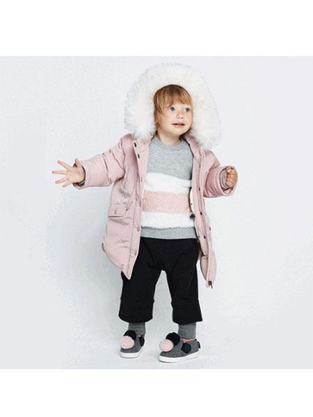 ALFONSO童装品牌2019秋冬纯色简洁羽绒外套