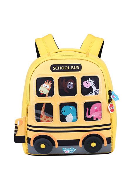 凡米粒婴童用品2019秋冬奇趣巴士背包(黄色校车小号)