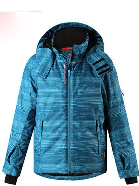 Reima男童户外防风防水夹克滑雪外套可调袖口下摆棉服外套