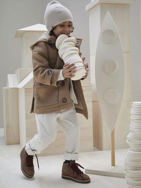 Brunello Cucinelli童装品牌2019秋冬英式罗纹编织毛衣