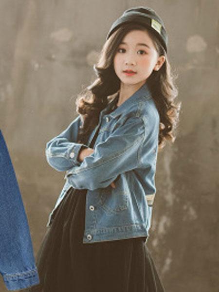 女童牛仔外套2019童装女春秋款中大童洋气韩版小女孩儿童上衣外套