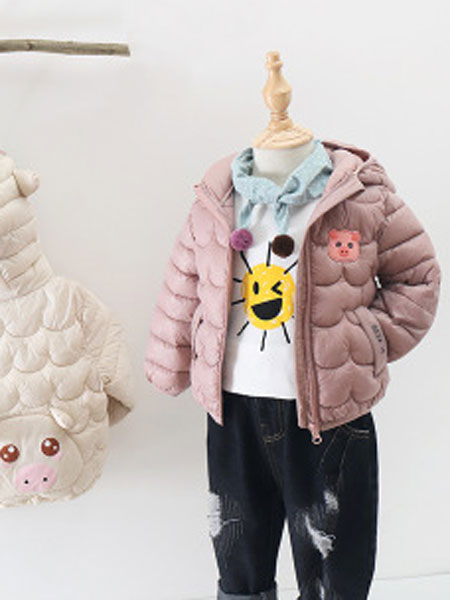 2019新款儿童轻薄棉服男童女童中小童连帽羽绒棉衣外套