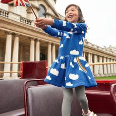 奥斯达童装品牌2019秋季秋季新品纯棉童裙 针织长袖圆领公主裙