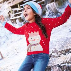 奥斯达童装品牌2019秋季欧美风格品牌童装秋季新品女童纯棉卫衣卡通波点童卫衣