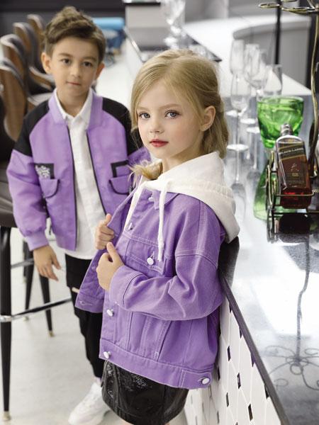 芭�吠猛��b品牌2019秋冬新款紫色外套