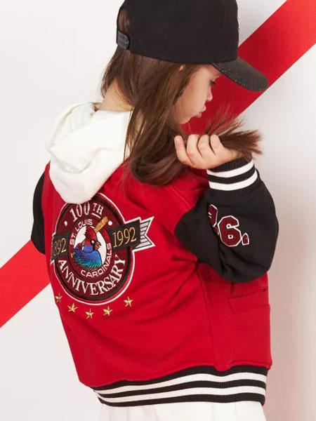 美国职业棒球联盟童装品牌2019秋冬新款条纹印花棒球服