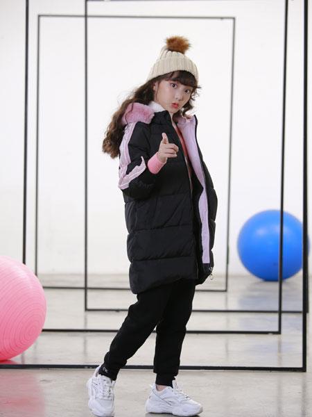 可趣可奇童装品牌2019秋冬新款中长款长袖羽绒服