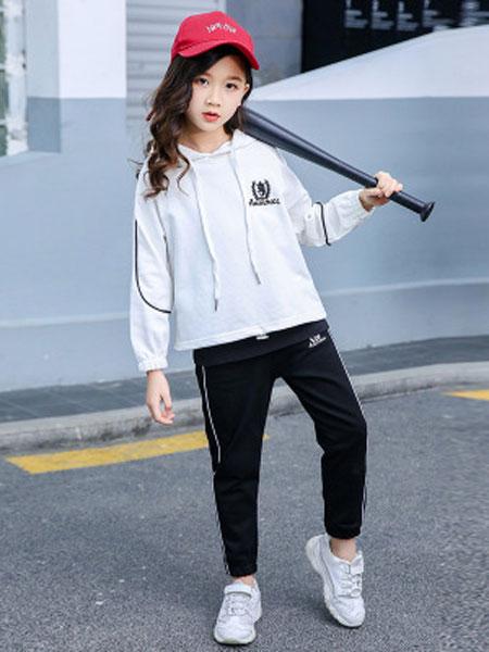 少年邦童装品牌2020春夏运动女孩韩版卫衣服中大童洋气时髦