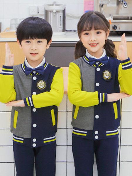 少年邦童装品牌2020春夏新款儿童两件套英伦风班服中小学生校服套装潮