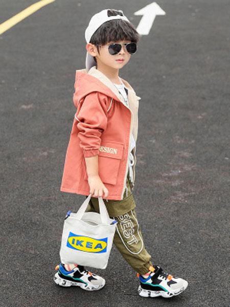 少年邦童装品牌2020春夏中大童韩版休闲烫钻开衫儿童长袖
