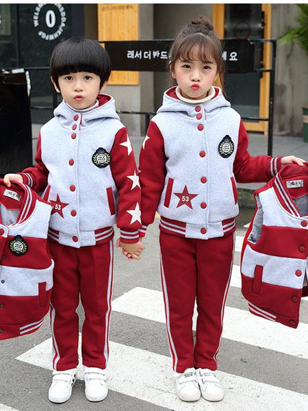 少年邦童装品牌2020春夏套装儿童运动休闲两件套