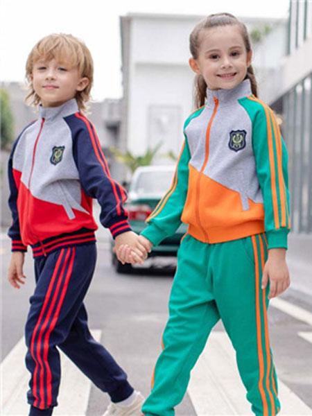 米乐橙MIROCH童装品牌2019秋季多色时尚运动套装