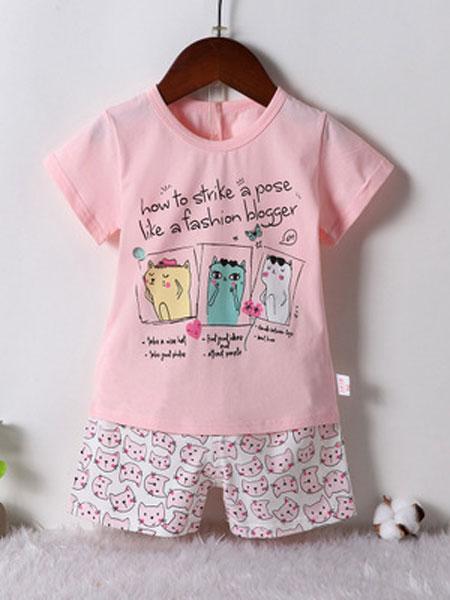 新品韩版短袖儿童内衣套装 冰爽奥代尔卡通中小童套装