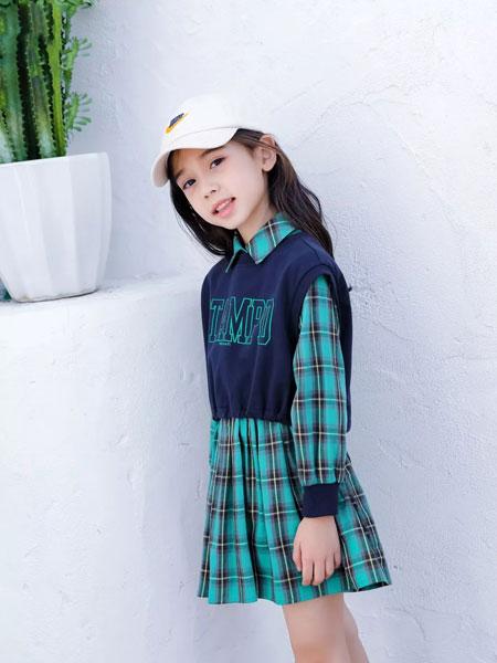 思贝秀 SIBEIXIU童装品牌2020春夏新款格子马甲连衣裙
