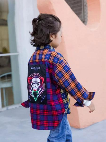 图零钱TUBOY童装品牌2019秋冬新款格子长袖衬衫