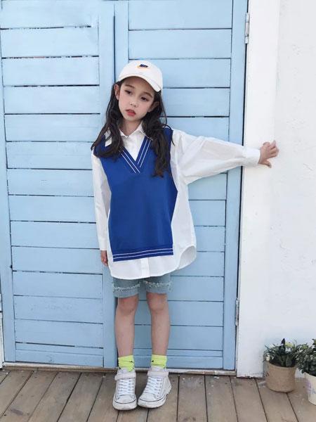 图零钱TUBOY童装品牌2019秋冬新款假两件长袖衬衫