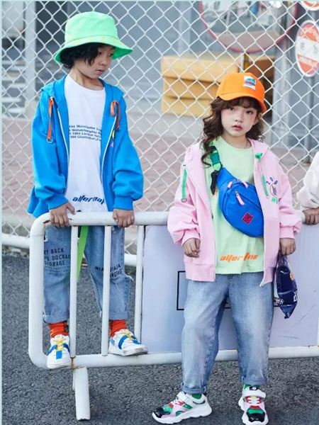 小资范童装品牌2020春夏新款纯色拉链长袖外套