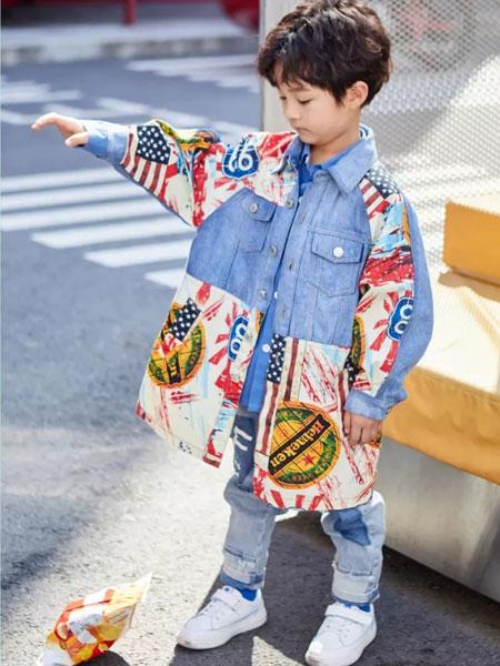 小资范童装品牌2020春夏新款涂鸦牛仔外套
