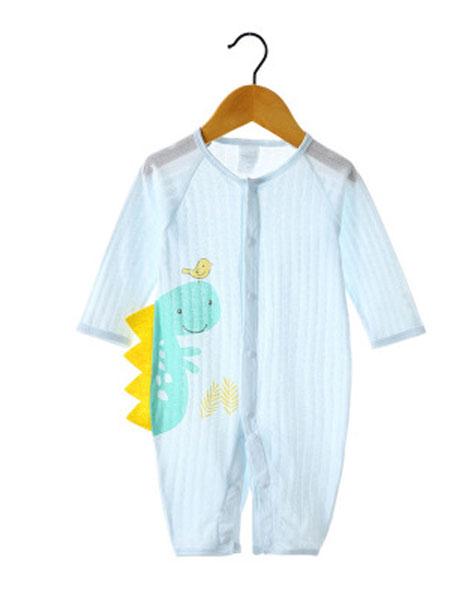 优品生活童装品牌2019秋冬婴儿连体衣夏季新生衣服长袖纯棉宝宝睡衣