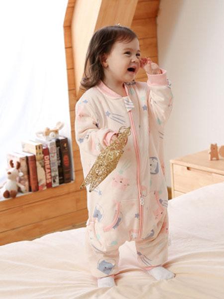 优品生活童装品牌2019秋冬婴儿睡袋秋冬加厚宝宝分腿睡袋