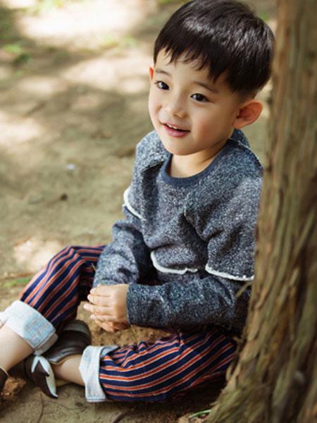 mini petrel童装品牌2020春夏新款图案长袖上衣
