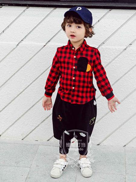 维尼叮当童装品牌2020春夏新款格子衬衫