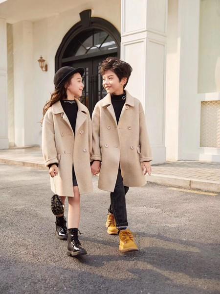 啄木鸟童装品牌2020冬季新品时尚毛呢大衣