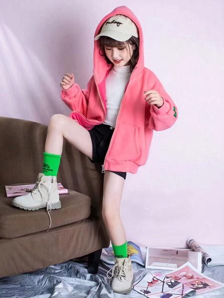 啄木鸟童装品牌2020冬季新品加绒棒球服外套