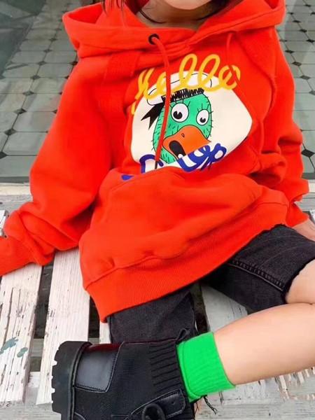 啄木鸟童装品牌2020冬季新品印花卫衣