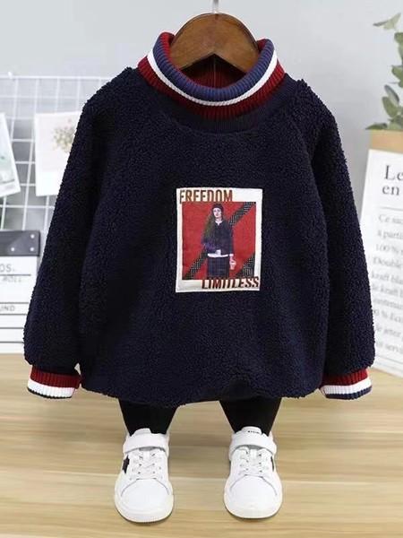 啄木鸟童装品牌2020冬季新品加绒卫衣