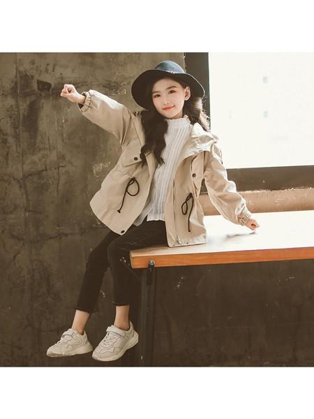 天鹄童装品牌2019秋冬外套韩版儿童中长款风衣中大童女孩洋气大衣潮
