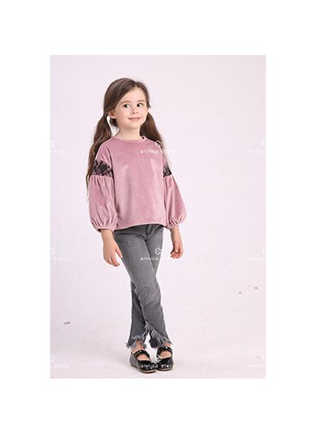 Annica艾尼卡童装品牌2020春夏宽松泡泡袖卫衣